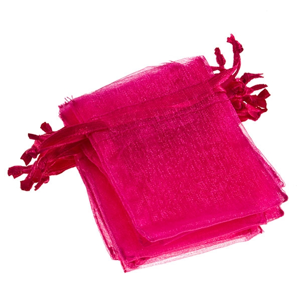 10 hot pink jewelry bags- measuring 4 x 3 each.
