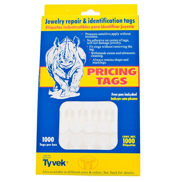 Pricing tags - 1000 per box.